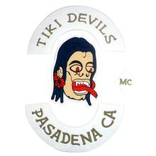 TIKI DEVILS PASADENA CA Embroidered punk biker Patches Clothes Stickers Apparel Accessories Badge