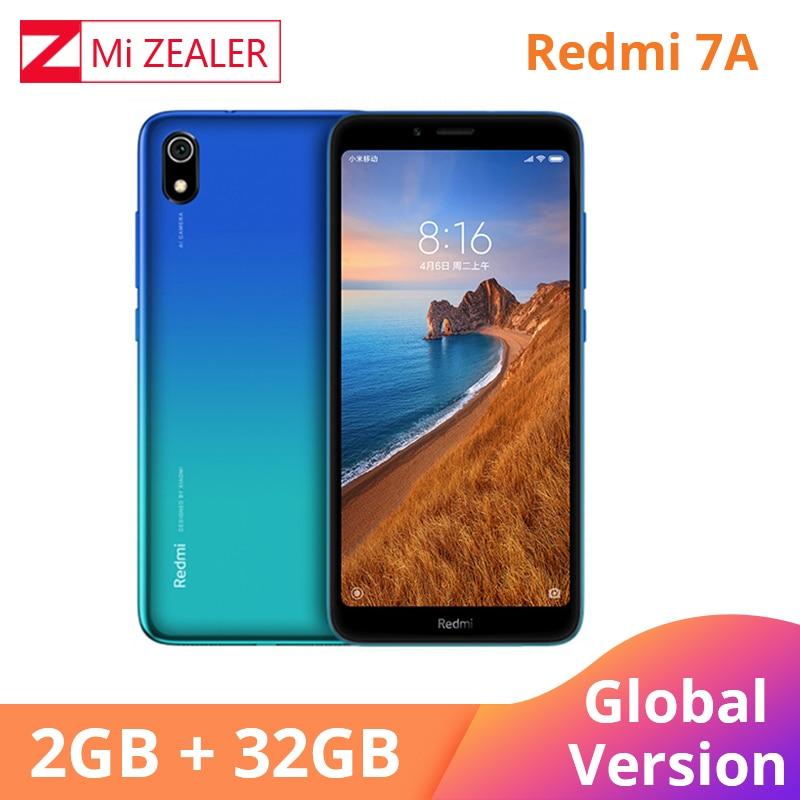 Redmi originais 7A 2GB Snapdargon 32GB Telefone Móvel 439 núcleo octa 5.45