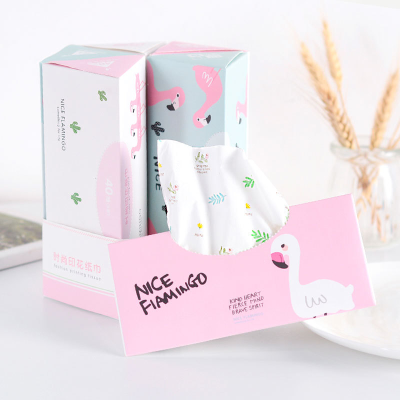 New Products Floral Car Mounted Triangular Box Paper 6 Boxed Environmentally Friendly 40 Pumping Thick Printed Paper Towel Manuf