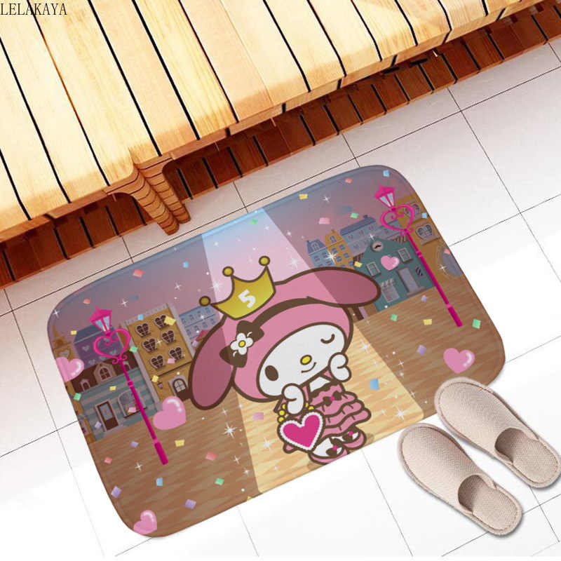 40*60cm My Melody Nette Weiche Teppich Anime Teppiche Cartoon Schlafzimmer Küche Boden Matte Bad Flanell Fußmatte Fuß pad Kinder Spielen Matten