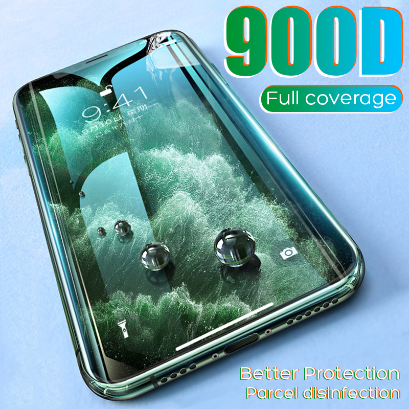 900D Full Cover Tempered Glass For IPhone 11 Pro Max Glass X XS Max XR Screen Protector Glass On For IPhone 6 6s 7 8 Plus X Film