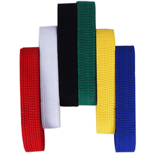 220-280cm*4cm Professional cotton Taekwondo Belt karate judo Martial arts waistband red white blue  Black for kids adult