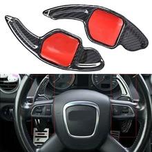 цена на Carbon Fiber Steering Wheel Shift Paddle Extension For Audi A3 RS3 A5 RS6 A4L A6L R8 A7 Q3 A8 Q5 S5 Q7 S6 TT S7 TTS S8 GKJH
