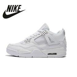 Zapatillas deportivas Nike Air Jordan 4 Denim AJ4 transpirables para hombre recién llegadas auténticas zapatillas de baloncesto size40-46