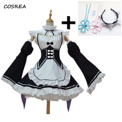 rem and ram cosplay anime apron