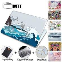 MTT 크리스탈 케이스 Macbook Air Pro 11 12 13 15 16 인치 터치 ID 2020 플라스틱 하드 커버 노트북 가방 a2289 a2251 a2179