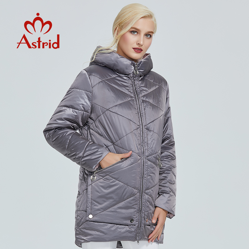 2019 Astrid Winter Jacket Women Contrast Color Waterproof Fabric With Cap Design Thick Cotton Clothing Warm Women Parka AM-2090