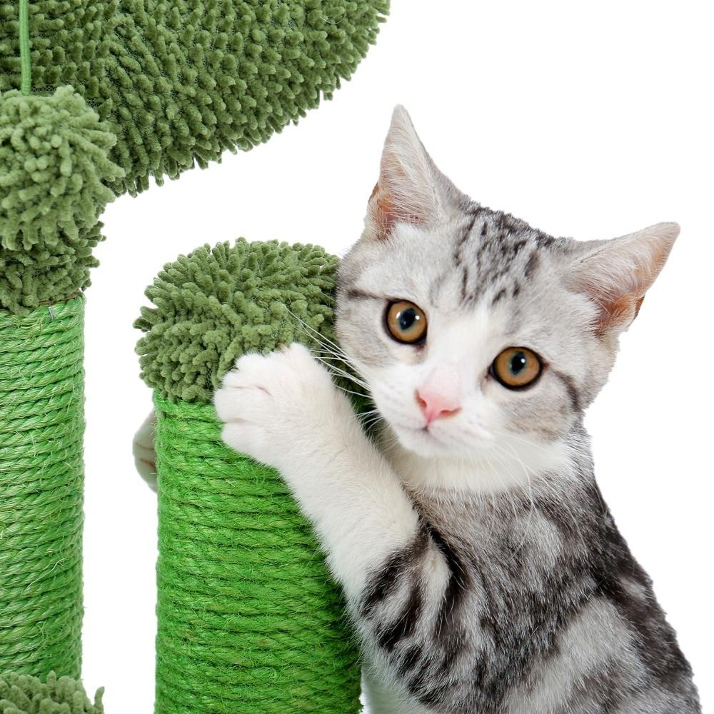 Cute Cactus Cat Tree Scratcher