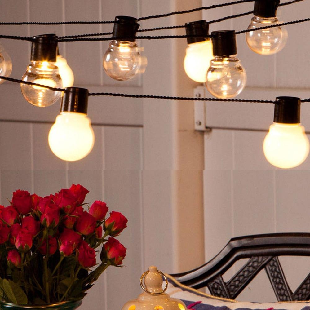 6M 20 LED Globe Bulb String Light Fairy Light Outdoor Led String G50 Bulbs Garden Patio Garland Wedding Party Decorative Lamp