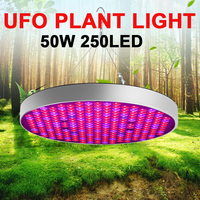 Plants Growth Light Red Blue Greenhouse Plant Eco Friendly Led Grow Light Plant Lamp 250LED 50W Hydroponic Flower Full Spectrum