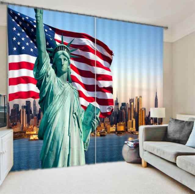 custom living room curtains American architecture 3D curtains For any room height modern curtains
