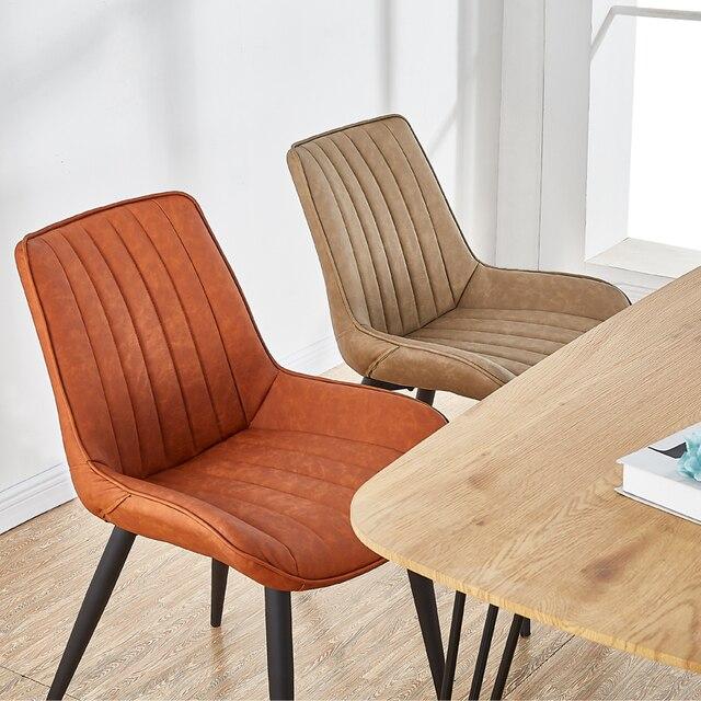 Modern Minimalist Backrest Dining Chair 2