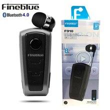 100% Originele Fineblue F910 Draadloze Bluetooth V4.0 Headset In-Ear Vibrerende Alert Dragen Clip Handsfree Oortelefoon Voor Smartphones