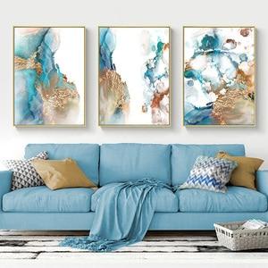 Cuadro sobre lienzo para pared de lujo abstracto, impresiones nórdicas, Marco para colgar, artesanías, cuadro de pared para sala, pasillo, decoración del hogar