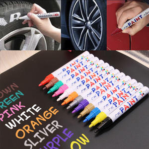 Colorful Styling Waterproof Pen Car Auto Tires Tread CD Metal Permanent Paint Markers Tyre Oily Graffiti Scratch Repair Care Pen