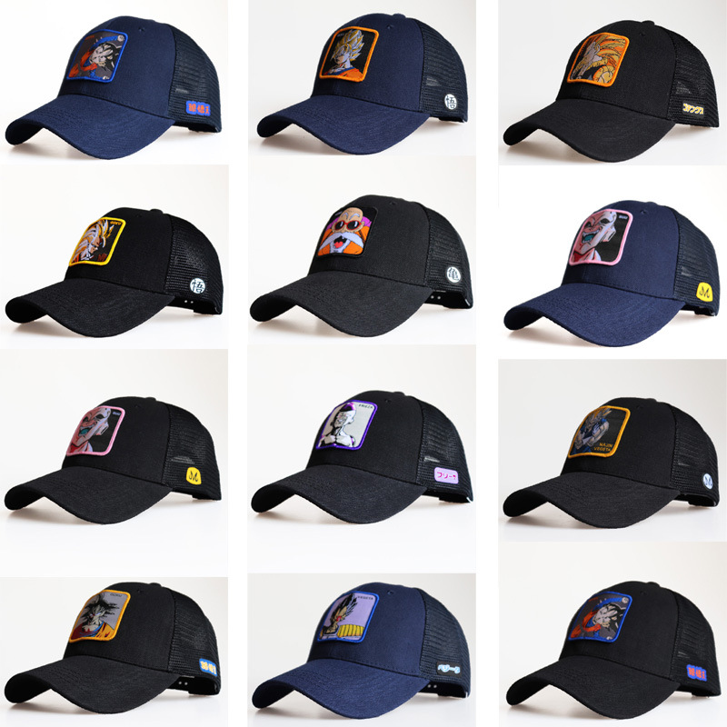NEW Spring And Summer Anime Dragon Ball Snapback Cap Cotton Baseball Cap Men Women Hip Hop Dad Mesh Hat Trucker Dropshipping