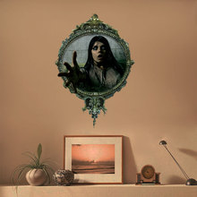 1 Pcs Horror Female Zombie Halloween Wall Sticker Creative Living Room Bathroom Decoration