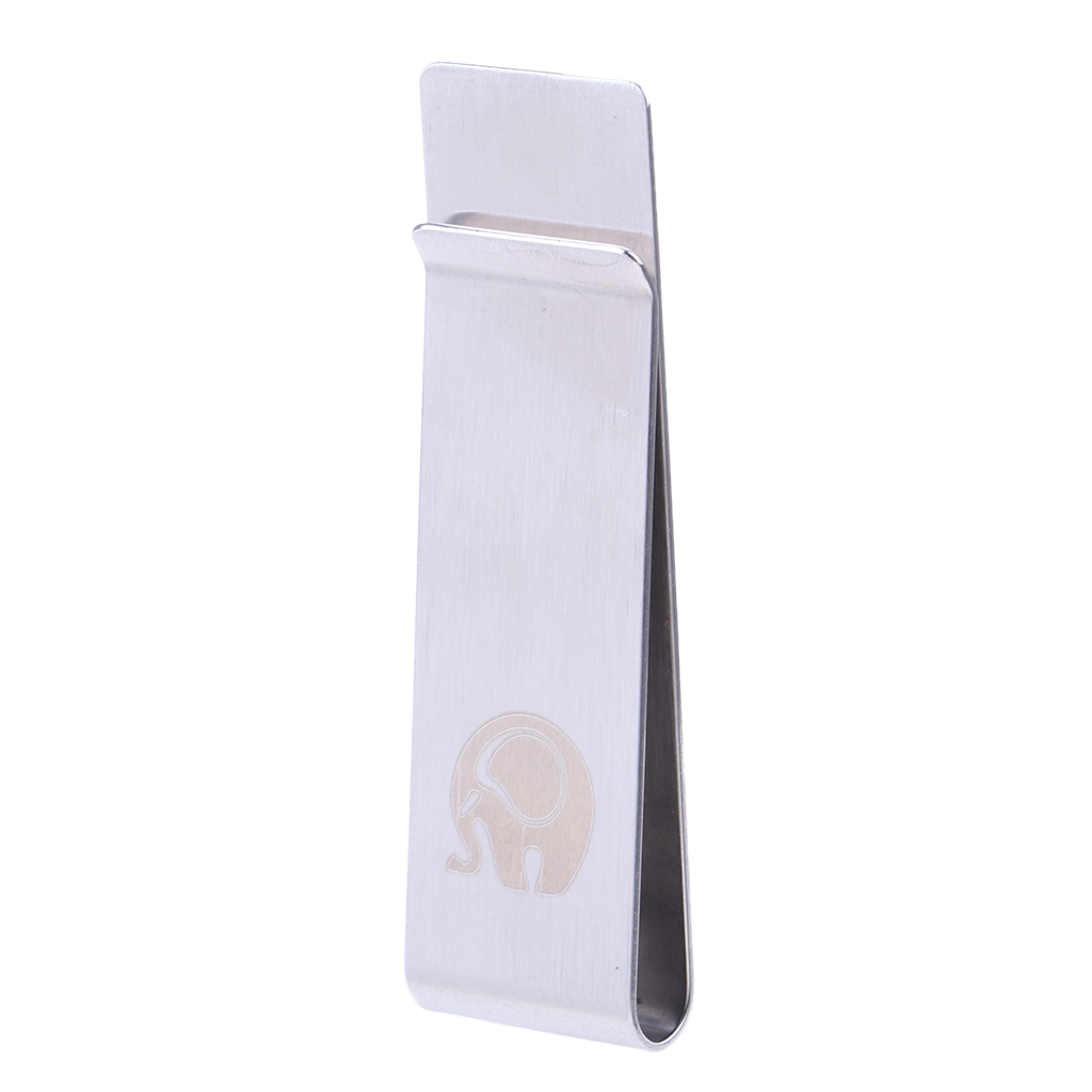 Fashion White Slim Money Clip Credit Card Holder Wallet New Stainless Steel