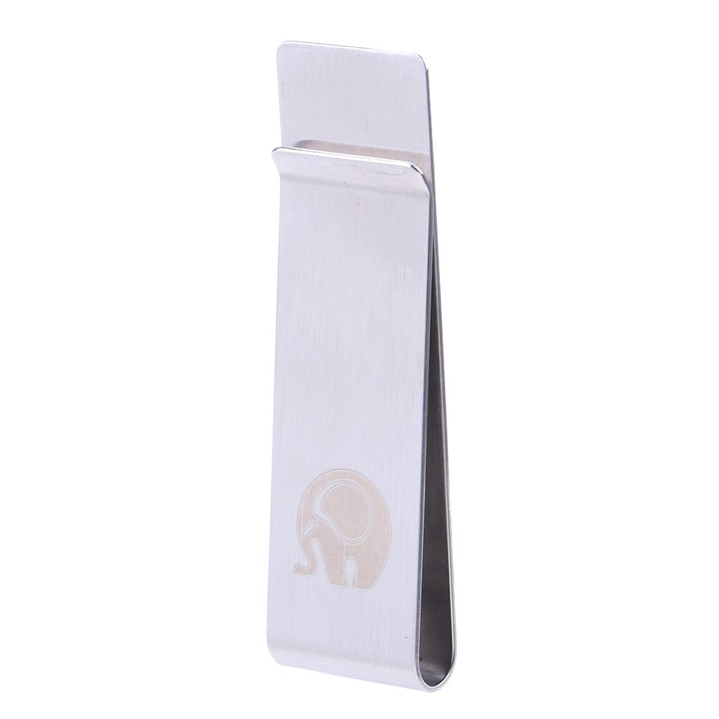 Fashion White Slim Money Clip Credit Card Holder Wallet New Stainless Steel