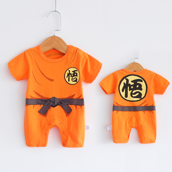 Anime Costume Baby Boy Clothes Newborn Rompers 100% Cotton 0 3 6 9 12 18 24 Months Infant Jumpsuits Cartoon New born Clothing image