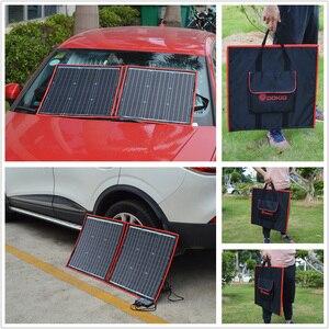 Image 5 - Dokio 18V 80W High Power Monocrystalline Flexible Faltbare photovoltaic Panel Reise & cell Telefon & camping portable solarzelle board + 12V USB controller Kit