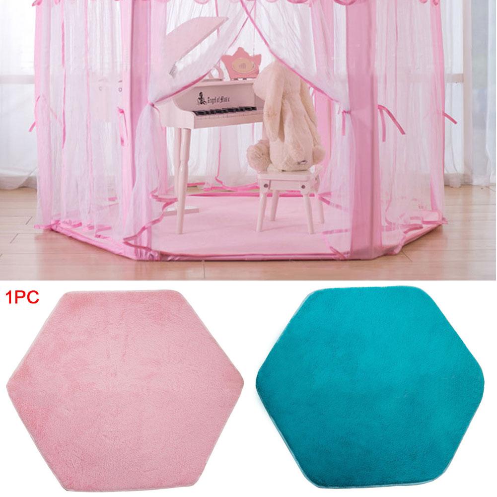 Children Hexagonal Princess Tents Matching Velvet Pad Baby Game Blanket Pad Climbing Mat