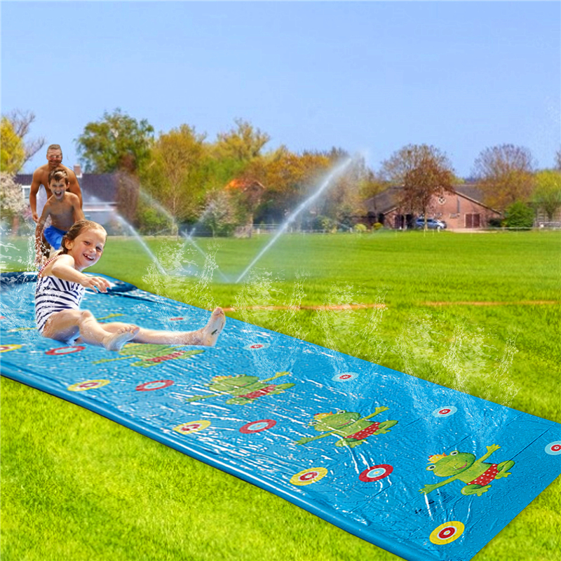 Lawn Inflatable Water Slide Pools Water Splash Slide Waterslide Children Summer Swimming Pool PVC Outdoor Backyard Games Toys
