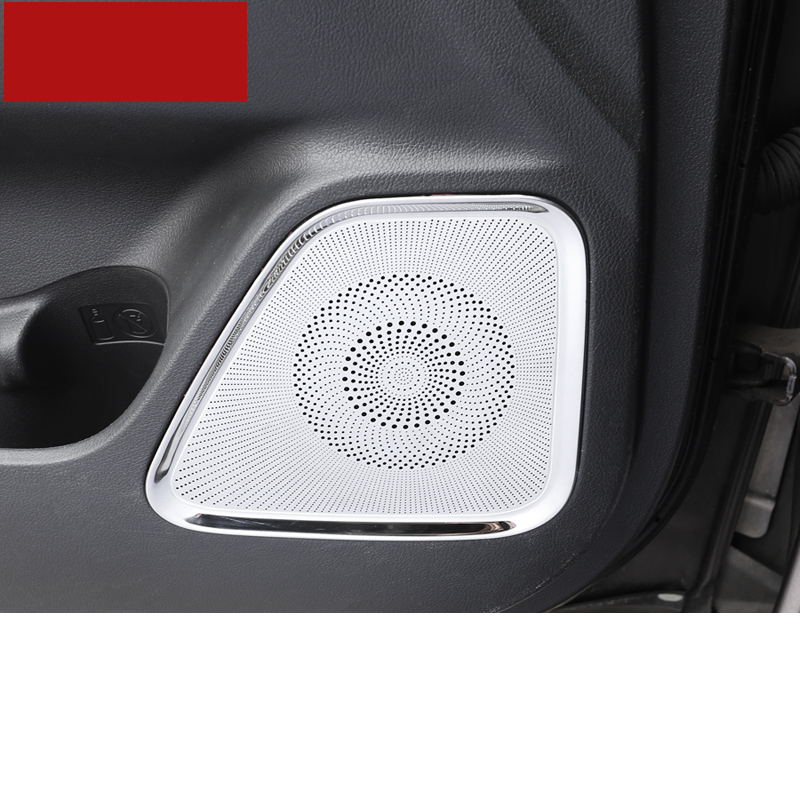 Lsrtw2017 Stainless Steel Car Inner Dooe Sound Speaker Panel Frame for Mitsubishi Outlander 2013 2020 2014 2015 2016 2017 2018 in Interior Mouldings from Automobiles Motorcycles