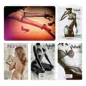 Металлическая табличка с жестяными вывесками для девочек, металлическая табличка, винтажный Настенный декор для мужчин, пещера, бар, Пивной...