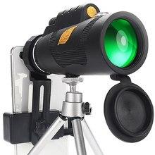 12x50 poderoso telescópio monocular, tripé opcional e suporte de smartphone, adequado para caminhadas e campismo telescopio