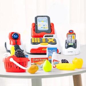 Image 2 - ילדים לילדים קופת של צעצוע סימולציה סופרמרקט קניות ילדה ילד לסחוב כרטיס מכונה מכירות קופה