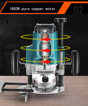 220V Multi-function Mini Woodworking Trimming Machine Trimmer Engraving Wood Milling Machine