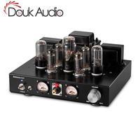 Douk ses 6P1 vakumlu tüp güç amplifikatörü Hi-Fi Stereo Tek Uçlu Sınıf A Entegre Kulaklık Amp
