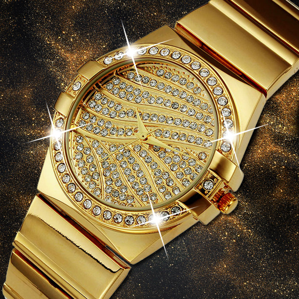 MISSFOX Role Watch Women Famous Brand Female Golden Clock Arabic Numeral Watch Quartz Gold Ladies Wrist Watches For Teenage Girl