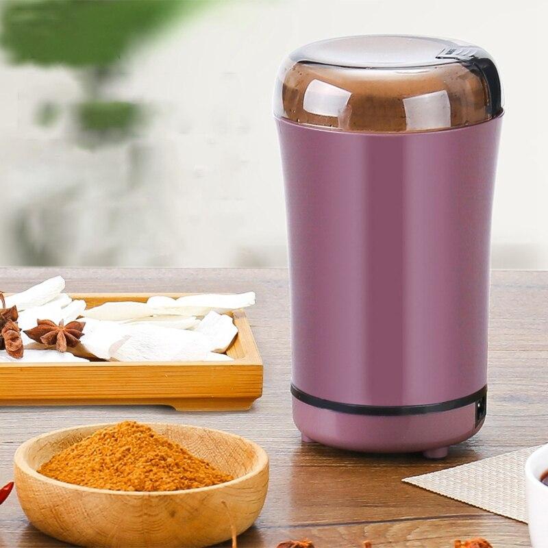 XMX-elektryczny młynek do kawy Mini młynek do pieprzu i soli do kuchni potężne przyprawy orzechy nasiona maszyna do mielenia ziarna kawy wtyczka amerykańska