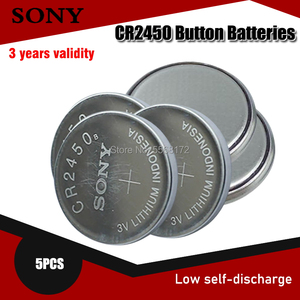 5 шт. 100% оригинал Sony CR2450 CR 2450 3V 550mah литиевые батареи для часы swatch ключи часы Шагомер Кнопка монета