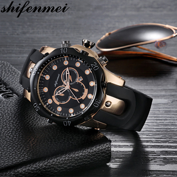 Shifenmei Watch Men Military Quartz Watch Mens Watches Top Brand Luxury Silicone Sports Wristwatch Date Clock Relogio Masculino fashion quartz watch men watches top brand luxury male clock stainless steel watches mens wrist watch hodinky relogio masculino