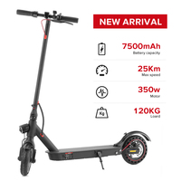 iScooter patinete electrico Electric Scooter Smart Folding Electric Hoverboard 350 W Electronic Brake Display Screen LED Light