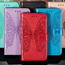 Butterfly Wallet Flip Leather Case For Samsung Galaxy A30S Case Magnetic Stand Book Cover For Samsung Galaxy A30S Cover Bag(China)
