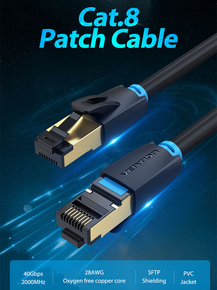 15M 49feet CNCOB Ethernet Cable High Speed Cat5e Shielded Computer LAN Cable with RJ45 Connectors Gold Plated Internet Cable