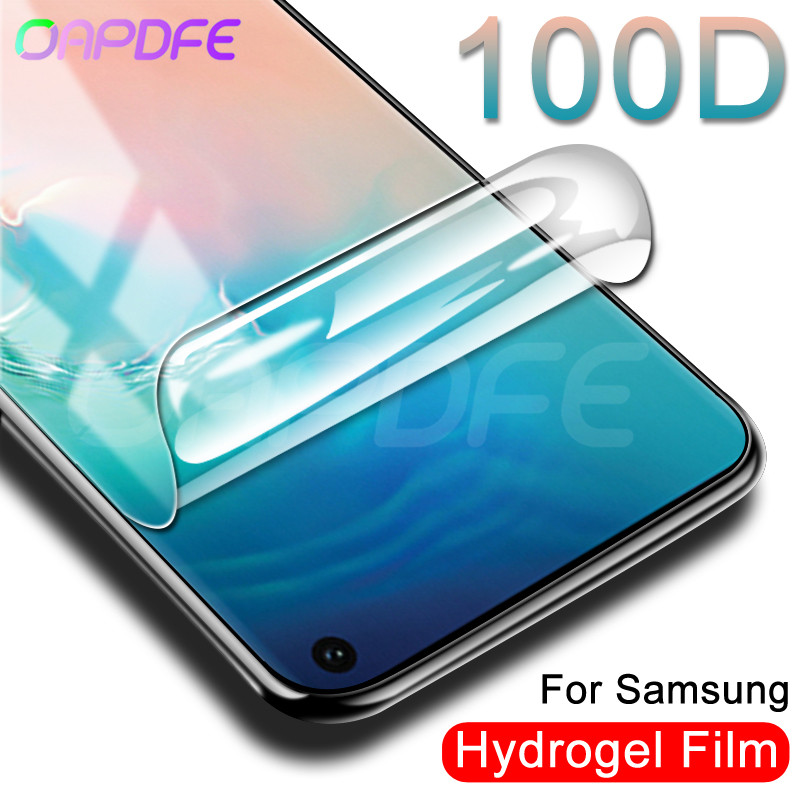 100D Hydrogel Film Screen Protector For Samsung Galaxy S10 S9 S8 Plus S10e A6 A8 Plus S7 Edge Screen Protective Protection Film