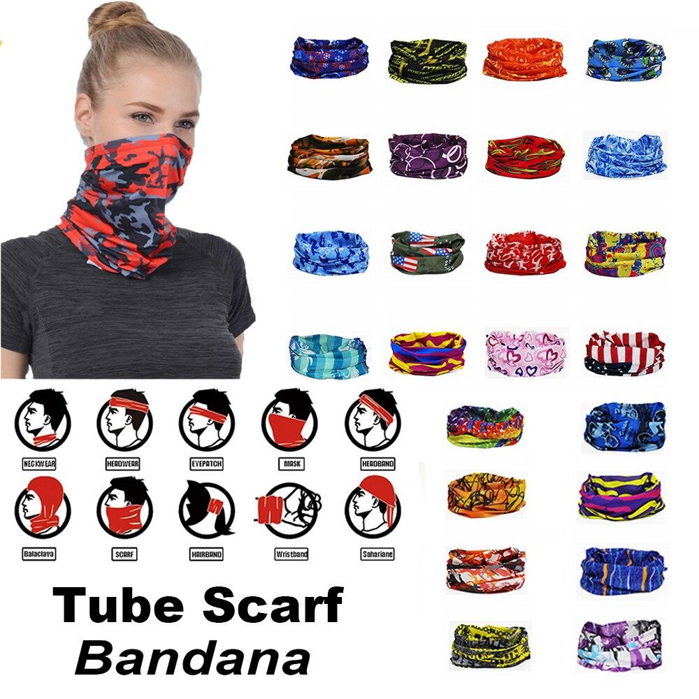 1 шт. маска для лица, шарф-труба на шею, облегающая шапка для мужчин, женщин, ветрозащитная мягкая эластичная Волшебная Бандана с принтом, гол...