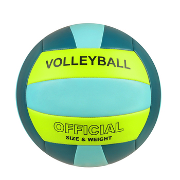 YANYODO Official Size 5 Volleyball, Soft Indoor Outdoor Volleyball for Game Gym Training Beach Play, Green free shipping official size 5 pu volleyball high quality match volleyball indoor