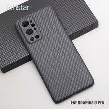 Amstar Real Carbon Fiber Beschermhoes Voor Oneplus 9 Pro 8 Pro 8T Ultra Dunne Anti Fall pure Koolstofvezel Telefoon Case Hard Cover