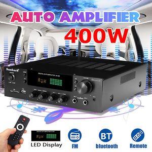 Sunbuck Bluetooth стереоусилитель, 220 В, 400 Вт, Hi-Fi, 2,0 аудио, пульт дистанционного управления, разъем для наушников, USB, SD, AV-80