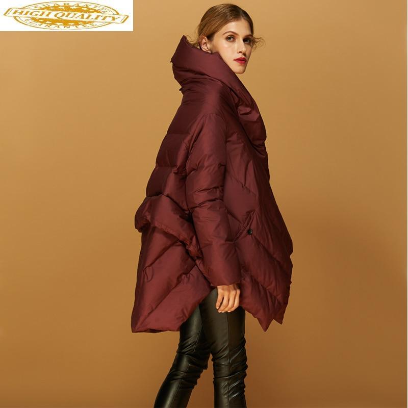 Winter Coat Women Duck Down Jacket Hooded Fashion Women's Jackets Loose Cloak Big Size Parka Chaquetas Para Mujer KJ597