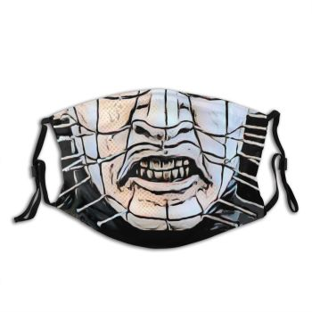Hellraiser Pinhead Non-Disposable Mouth Face Mask Horror Anti Haze Dust Mask With Filters Protection Mask Respirator Muffle