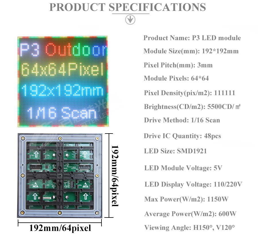 4 P3 Outdoor Full color RGB Full color LED display module