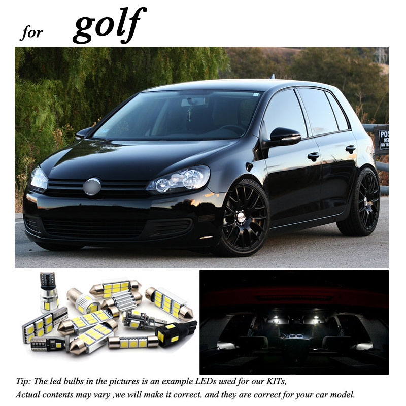 Perfect White <font><b>Canbus</b></font> <font><b>LED</b></font> interior lamp indoor map dome light bulb Kit For <font><b>VW</b></font> For Golf 4 5 6 7 MK4 MK5 MK6 MK7 (1999-2018) image