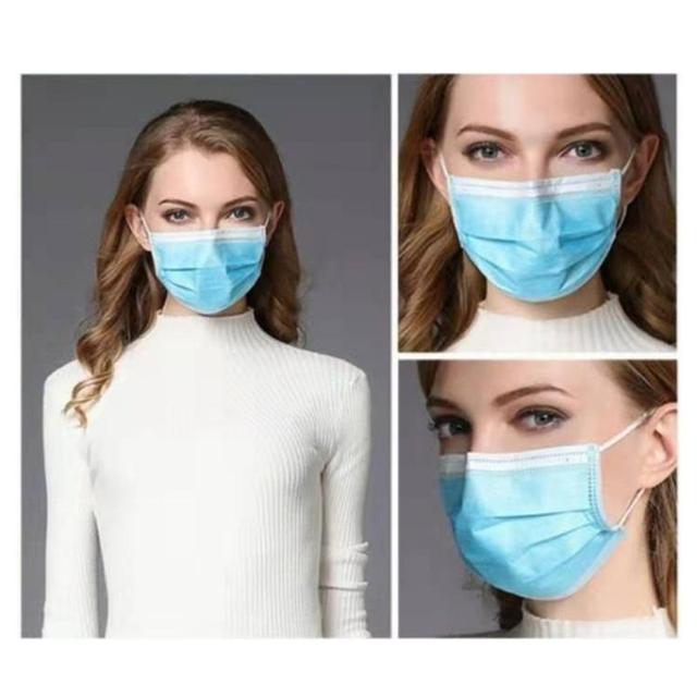 50pcs Disposable Face Mask 3 Layer Anti-Dust Mouth Masks Anti Flu PM2.5 Breathable Masks Face Care Earloop Black/White/Black 1